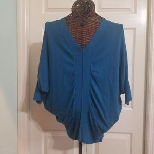ANA Pullover Tunic Blouse with Batwing Arms-XL